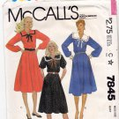 McCall's 7845 Pattern uncut 12 Pullover Dress Sailor Collar Flared Skirt