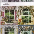 Butterick Home Decor 3395 Pattern Window Scarves