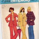Simplicity Pattern 7349 Uncut 16 Smock Jacket Detachable Hood Pants 1970s