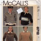 McCall's Pattern 8712 Uncut Large 40 42 Men Women Unisex Vintage 1980s the Gap