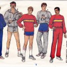 Butterick Pattern 6893 Uncut Large XL Men Athletic Sweat Pants Short Shorts Hoodie