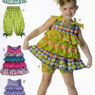 McCall's M6270 Pattern uncut Girls 4 5 6 Sun Dress Hat Shorts Capris Ruffles