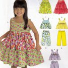 McCall's M6017 Pattern uncut Girls 4 5 6 Sun Dress Top Shorts Hat