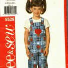 See & Sew 5528 Pattern uncut Toddler Child XS S M L 2 3 4 5 6 6x Jumpsuit