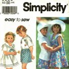 Simplicity 8508 size 5 6 6x Girls Shorts Shirt Dress Hat may be missing pieces, 50 cents plus ship