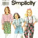 Simplicity 7540 size 10 Girls Pants Blouse Shorts Skirt Suspenders, may be missing pieces