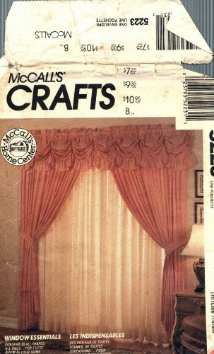 McCall's 5223 Pattern Draperies Window Treatments Panel Valance Curtains