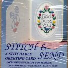 "Stitch & Send Greeting Card ""God Bless You"" Counted Cross Stitch Kit 2106"