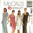 McCall's 2764 Pattern uncut 20 22 24 3 hour sleeveless dress jacket