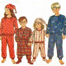 Butterick 6582 Pattern uncut Toddlers 2 3 4 5 6 Pajamas Robe Slippers Hat