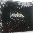 Two Way Sparkle 10 inch Tablet Sleeve Evening Bag Sequins Shiny Silver Black
