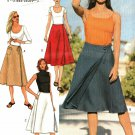 Butterick 3526 Pattern uncut 12 14 16 Flared Front Wrap Skirt