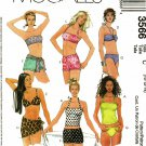McCall's 3566 Pattern uncut 10 12 14 Bathing Suit Swimsuit Bikini Tankini Cover Up