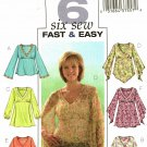 Butterick 4074 Pattern uncut 12 14 16 Boho Tops V Neck Shaped Hem