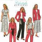 Butterick 4467 Pattern uncut 8 10 12 14 Lifestyle Wardrobe Jacket Top Skirt Pants Sash