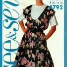 Butterick See & Sew 4792 Pattern uncut 12 14 16 Top and Jumper