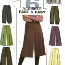 Butterick B4861 Pattern uncut 14 16 18 20 Pants Gauchos Straight Leg or Wide Leg