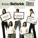 Butterick B5682 Pattern uncut 16 18 20 22 Jeans Boot Cut Flared Trouser Straight Skinny