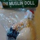 Just For Keeps Mini Muslin Santa Doll Seated NOS Big Butt Resin Head Hands Boots