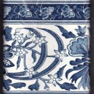 Wallpaper Border Ralph Lauren Blue White Amber Coast Porcelain 6.83 in x 5 yards 64RL-0209