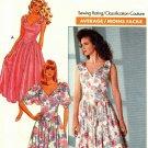 Butterick 3672 Pattern uncut 6 8 10 Dress Shaped Bodice Flared Skirt Vintage 1980s