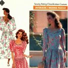 Butterick 4704 Pattern uncut 6 8 10 12 Dress Bias Collar Dropped Waist Designer Eileen West