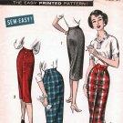 Advance 8761 Sewing Pattern uncut waist 24 Vintage 1950s Slim Fit Wiggle Skirt