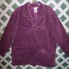 Jessica Holbrook Leather Suede Jacket Coat 3X Lavender-New