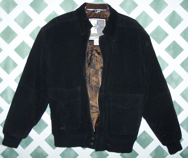 Black Leather Middlebrook Park Coat Jacket M Womens Mens