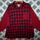 Bechamel II Red Plaid Cotton Shirt Size 3X
