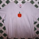 Quacker Factory White Pumkin Halloween T Size 3X