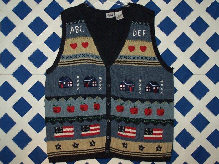 Capacity Woman Size 3X School Teacher Sweater Cardigan Vest