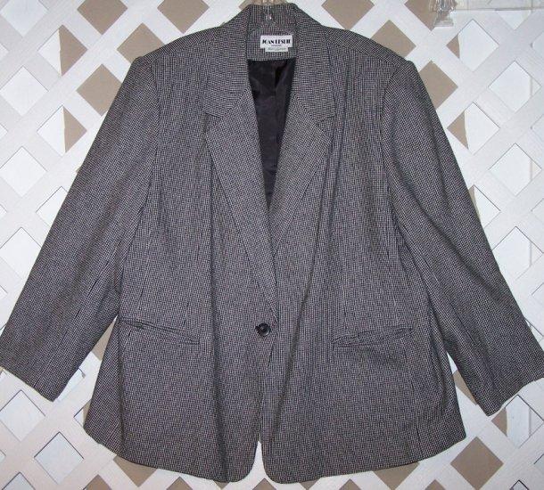 Womens 22W 24W Joan Leslie Plus Size Career Suit 22 24