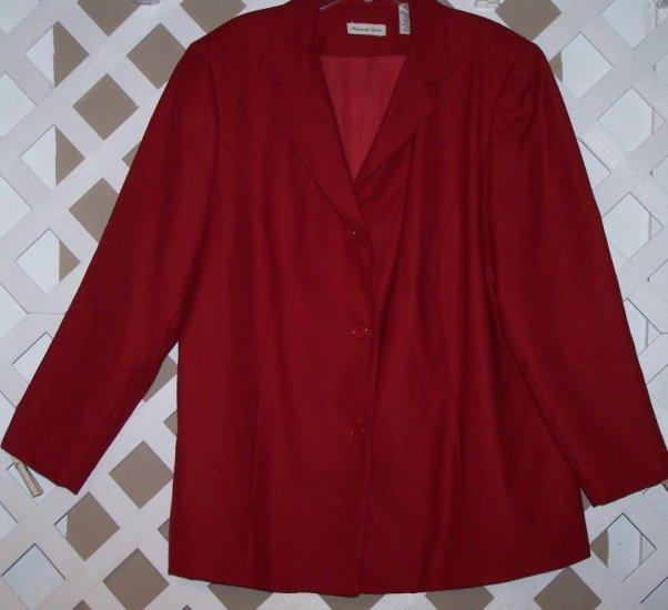 Womens 22W 24W Amanda Smith Plus Size Career Suit 22 24