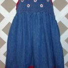 Girls Zoey Brand Smocked Denim Dress Size 6