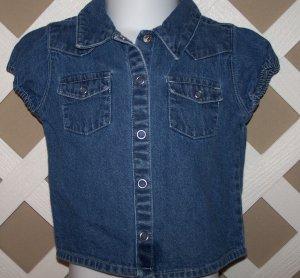 Girls Old Navy Denim Button Up Snap Shirt Size 18-24 Months