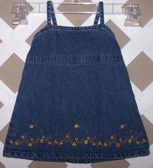 Baby Girls Old Navy Denim Dress Size XS 0-3 Months