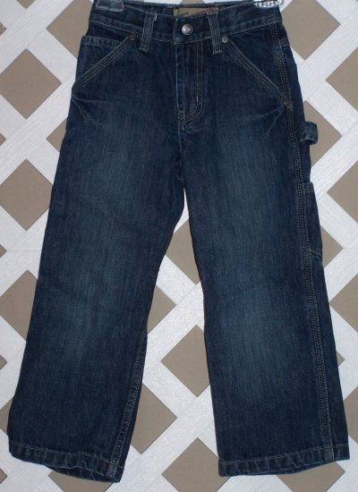 Boys Old Navy Denim Blue Carpenter Jeans Size 5 Slim