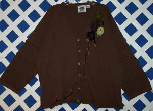 Storybook Knits Pointelle Perfection Sweater Size 3X