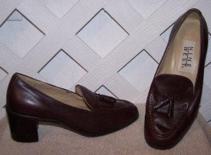 Women�s 5.5 Brown Leather Nine West Shoes Size 5 1/2