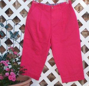 Womens Bright Pink Mountain Lake Capri Pants 10 P BTS
