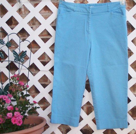 Womens Sky Blue St. John's Bay Capri Pants 12 BTS