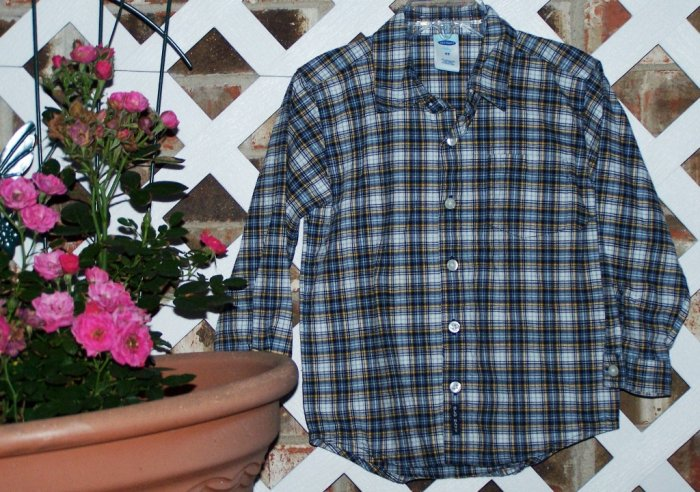 Boys Old Navy Plaid Dress Shirt Size 4T Like New BTS