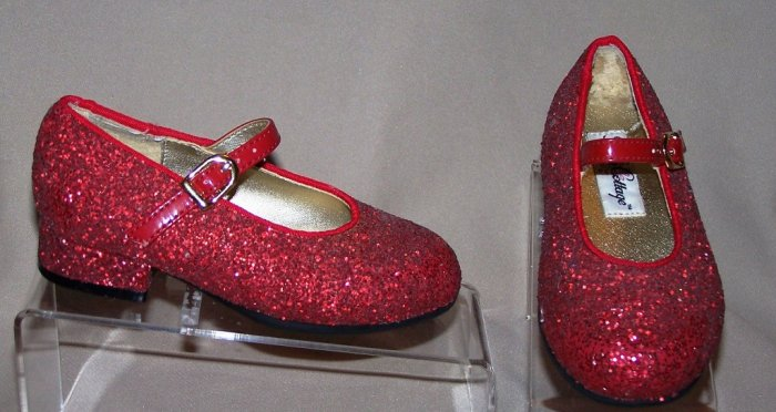 Girls Ruby Red Dorothy Wizard of Oz Slippers Shoes 7 Rose Cottage