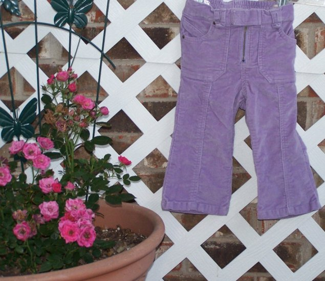Baby Girls Old Navy Lavender Corduroy Pants 18-24 Months