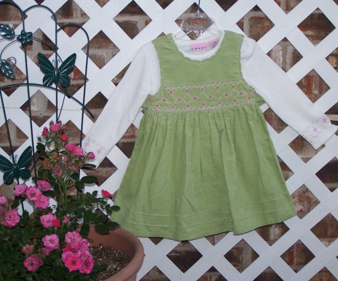 Toddler Girls SWEET Corduroy Jumper Dress 24 Months BTS Cute!