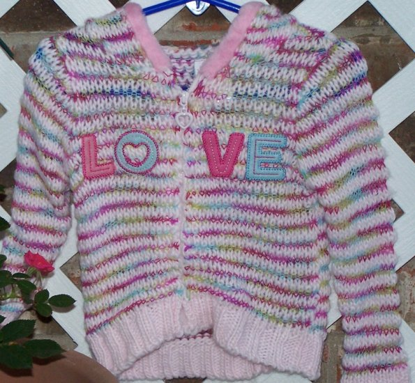 Girls Nannette LOVE Sweater 12 Months NEW BTS Cute!