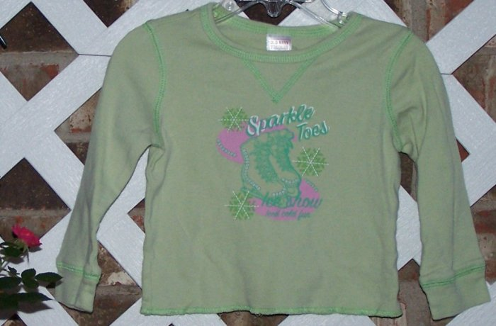 Girls Old Navy Sparkle Skate Shirt 18-24 Months BTS Cute!