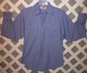 Mens Vintage Pearl Snaps Western Cowboy Shirt Size 15