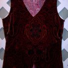 Women's Susan Lawrence Red Paisley Shirt Size L